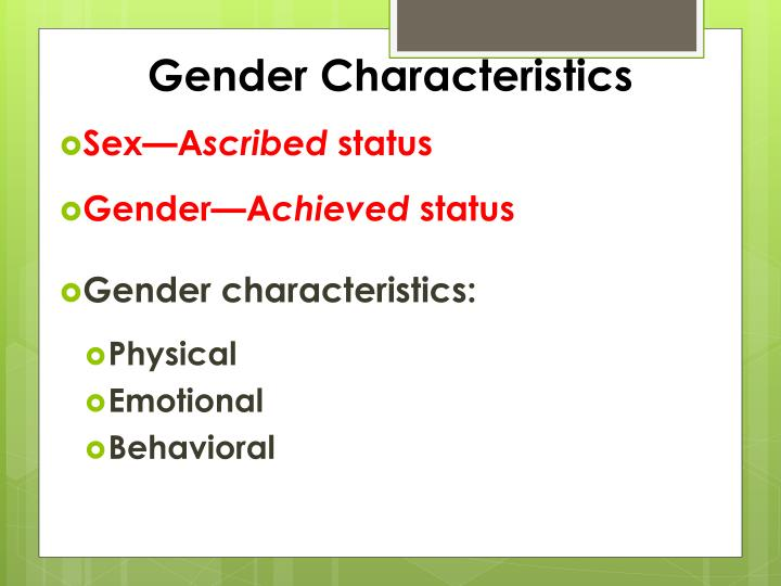 Gender Characteristics
