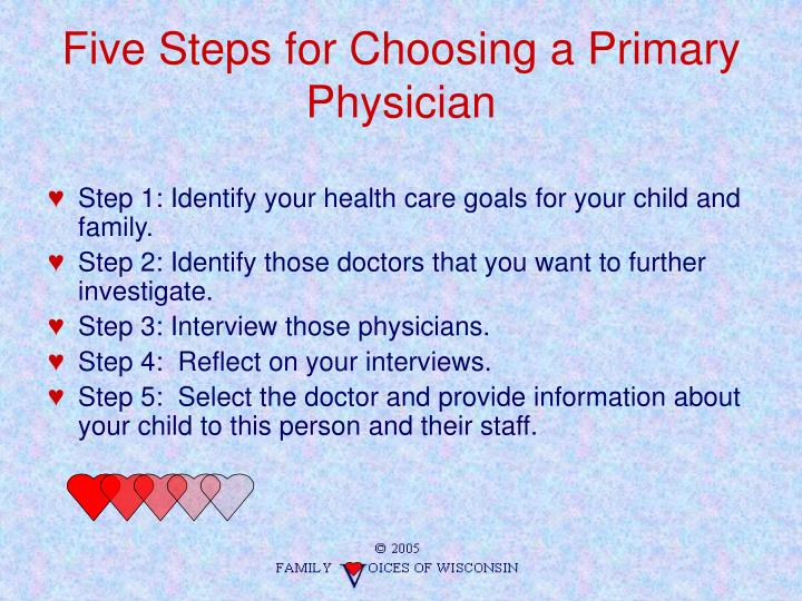 Five Steps for Choosing a Primary Physician