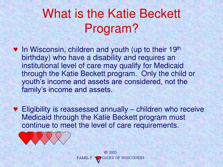 What is the Katie Beckett Program?