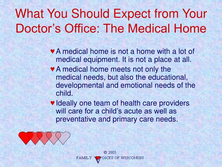 What You Should Expect from Your Doctor's Office: The Medical Home