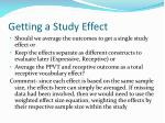 getting a study effect