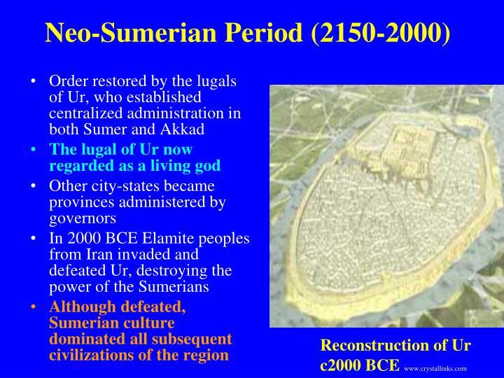 Neo-Sumerian Period (2150-2000)