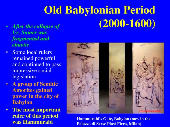 Old Babylonian Period (2000-1600)