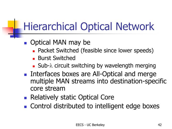Hierarchical Optical Network