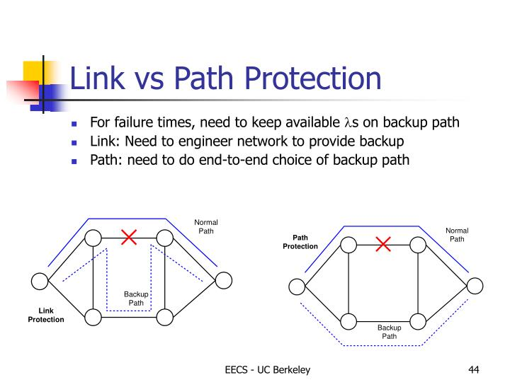 Link vs Path Protection