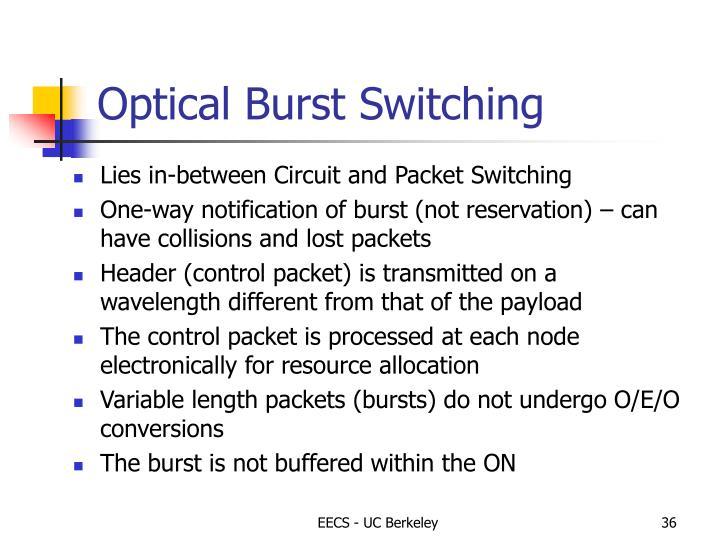 Optical Burst Switching