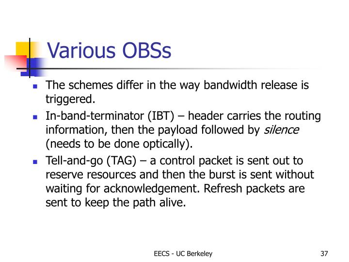 Various OBSs