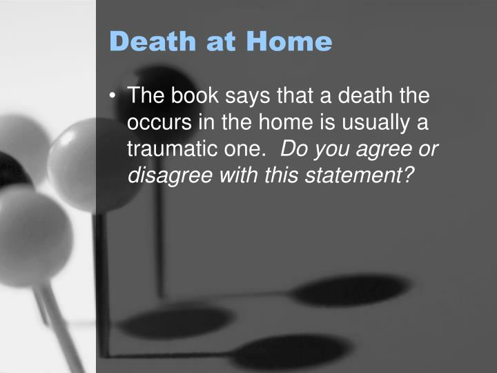 Death at home