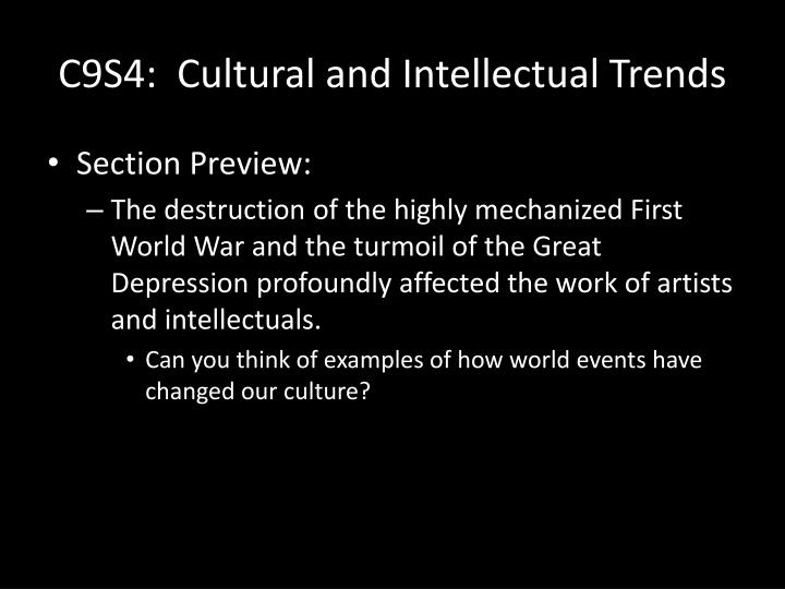 c9s4 cultural and intellectual trends n.