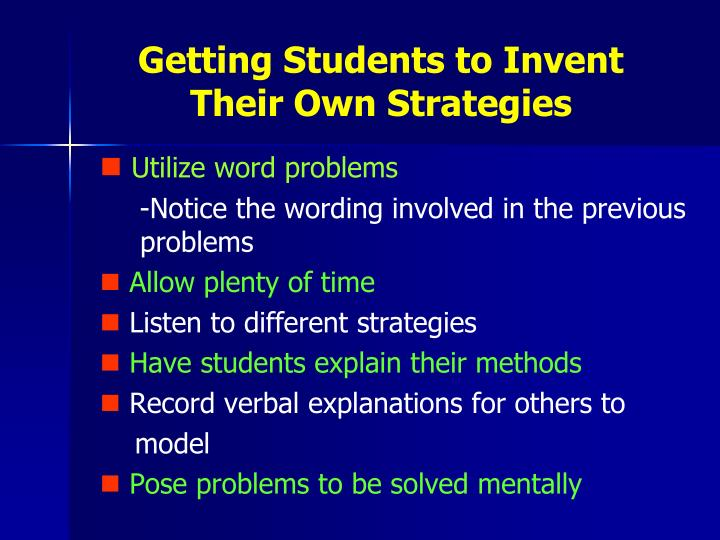 Getting Students to Invent
