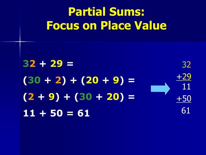 Partial Sums: