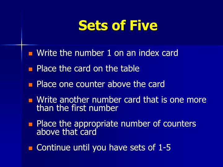 Sets of Five