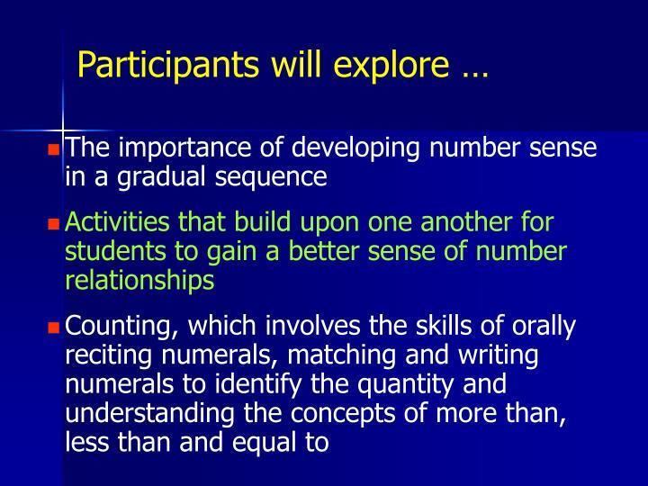 Participants will explore …