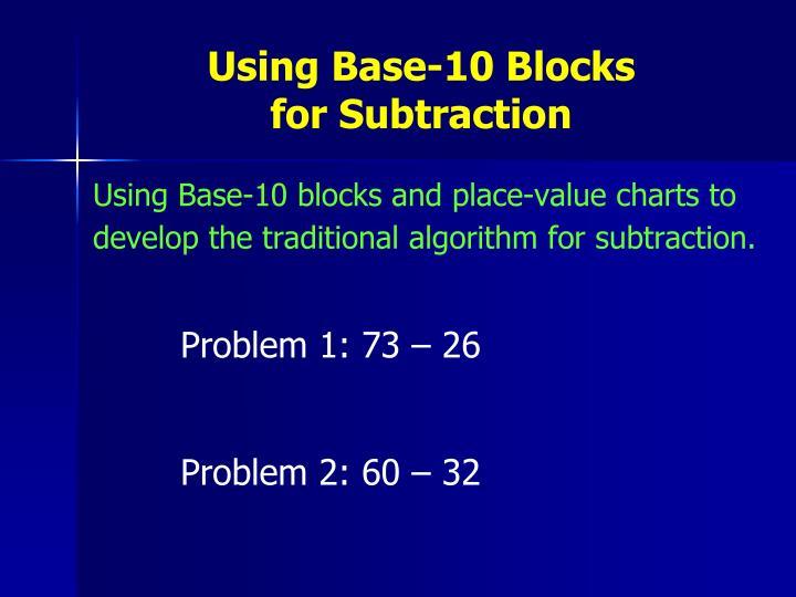 Using Base-10 Blocks