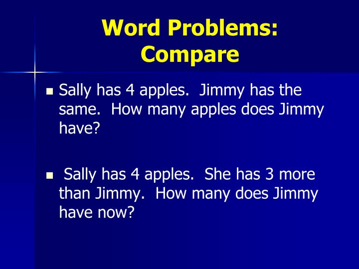 Word Problems: