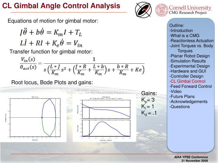 CL Gimbal Angle Control Analysis