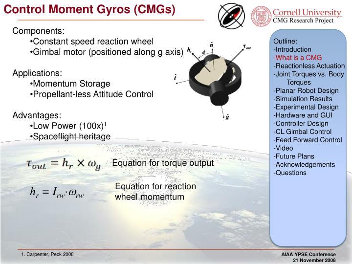 Control moment gyros cmgs