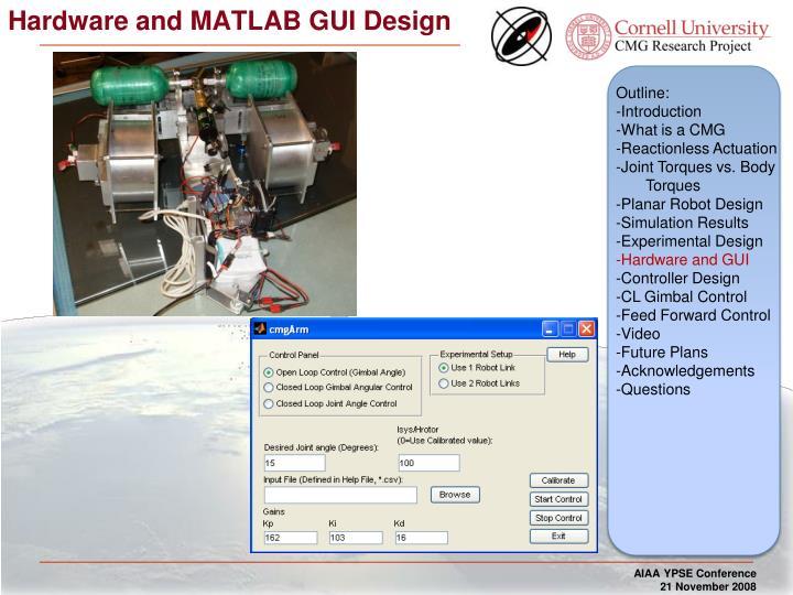 Hardware and MATLAB GUI Design