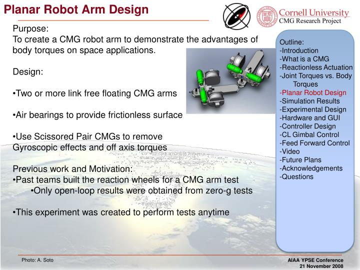 Planar Robot Arm Design