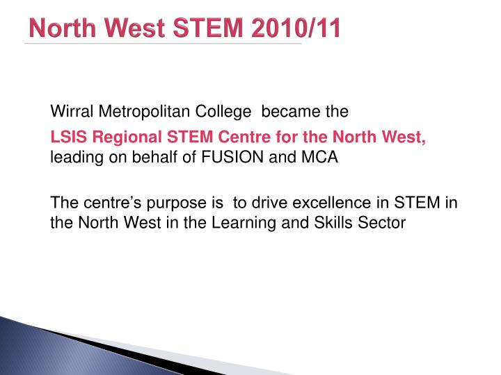 North West STEM 2010/11