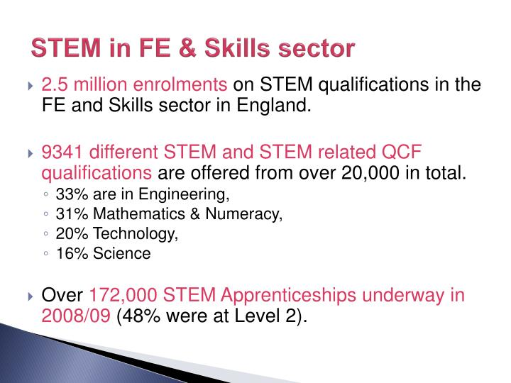STEM in FE & Skills sector
