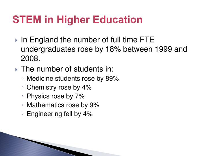 STEM in Higher Education