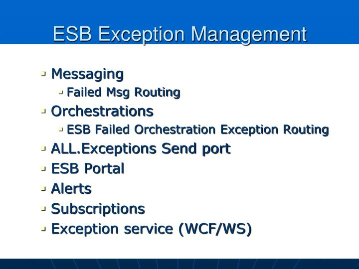 ESB Exception Management
