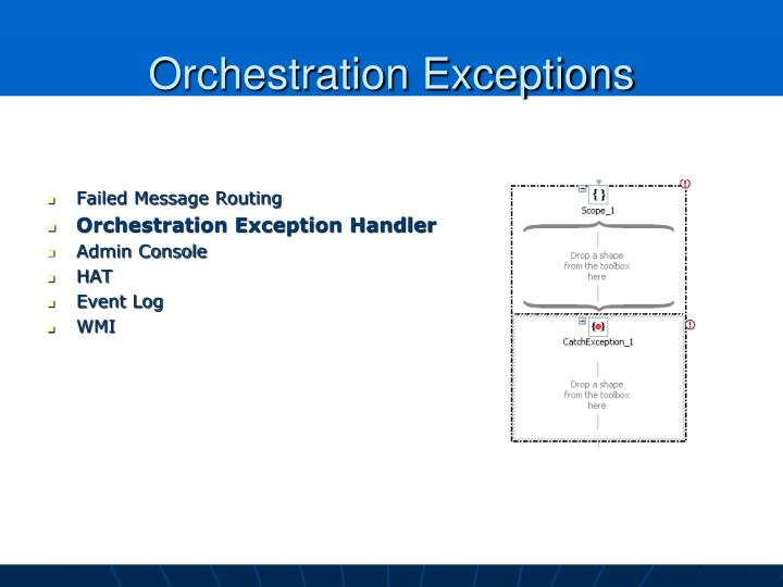 Orchestration Exceptions