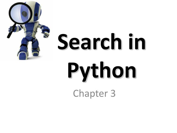 Search in python