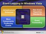 event logging in windows vista
