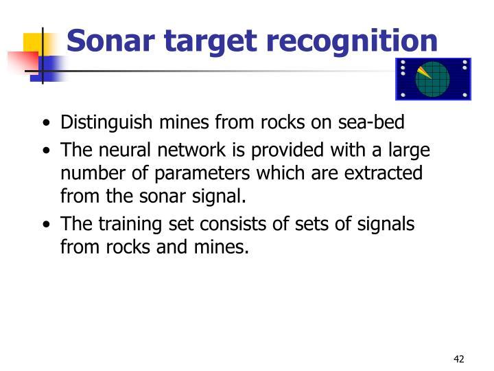 Sonar target recognition