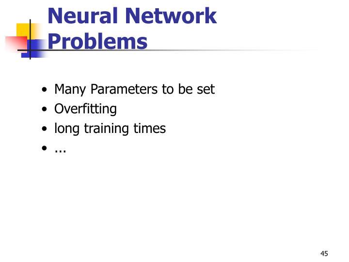 Neural Network Problems