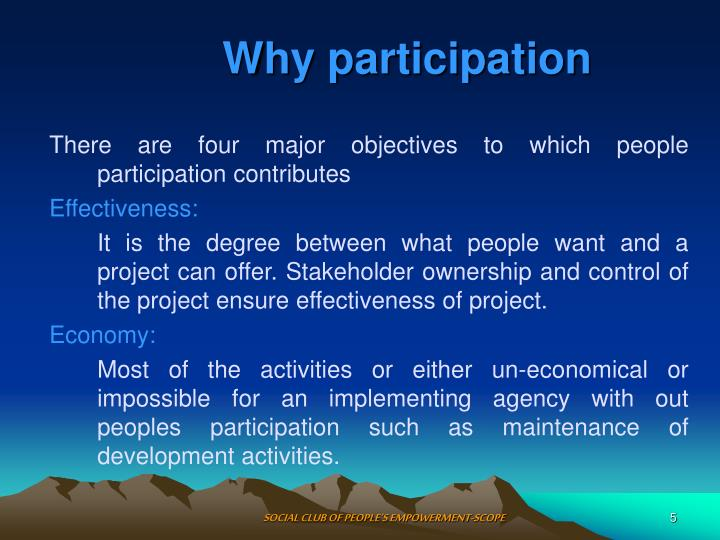 Why participation