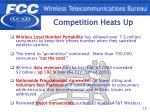 competition heats up