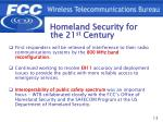homeland security for the 21 st century