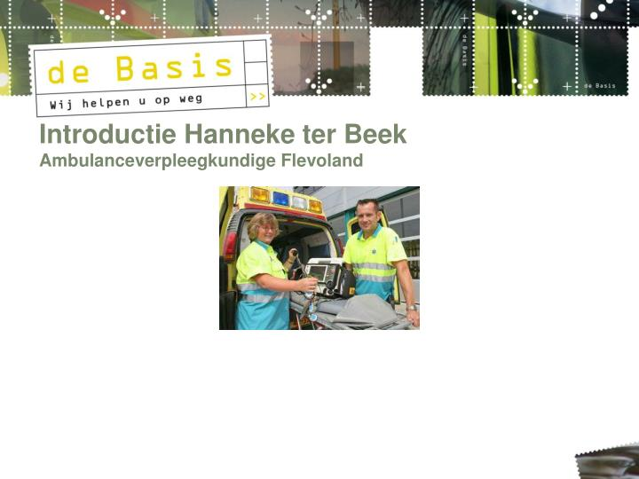Introductie Hanneke ter Beek