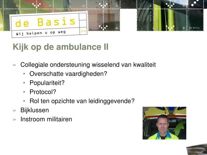 Kijk op de ambulance II