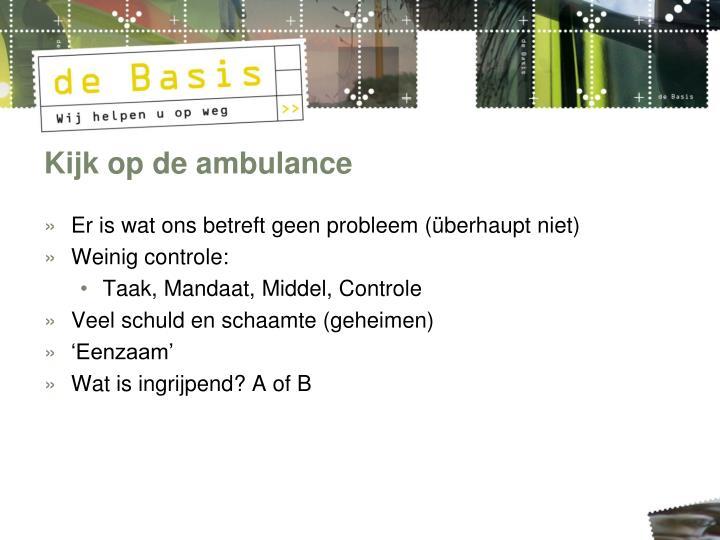 Kijk op de ambulance