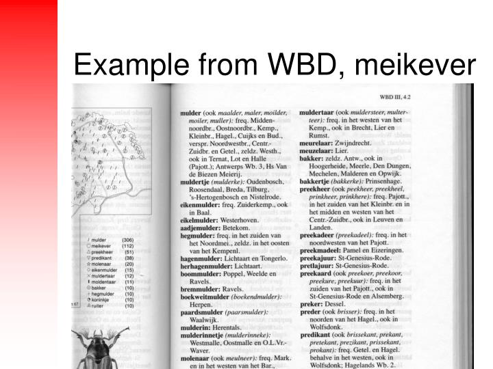Example from WBD, meikever