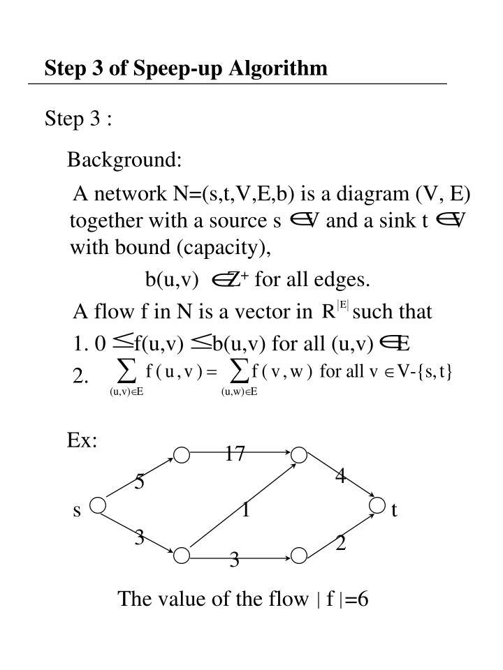 Step 3 of Speep-up Algorithm