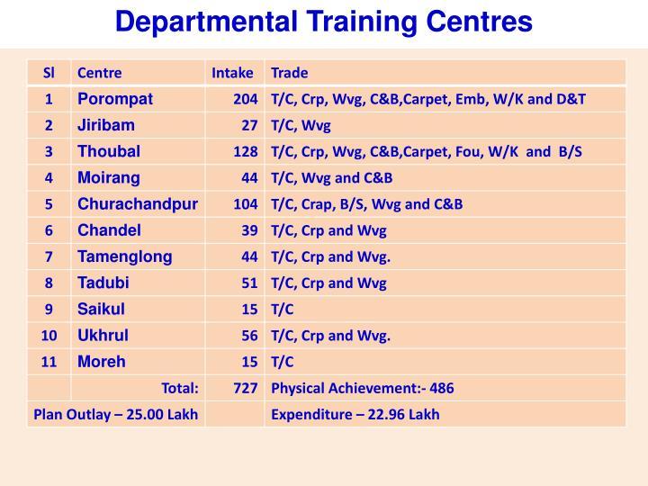 Departmental Training Centres