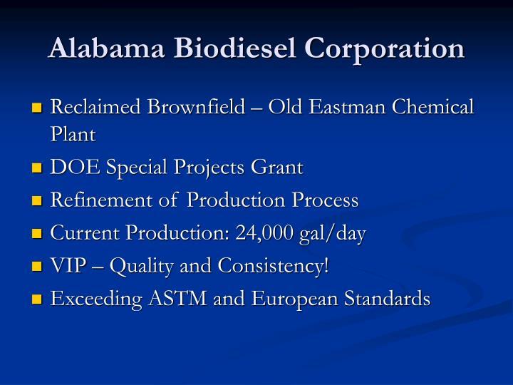 Alabama Biodiesel Corporation