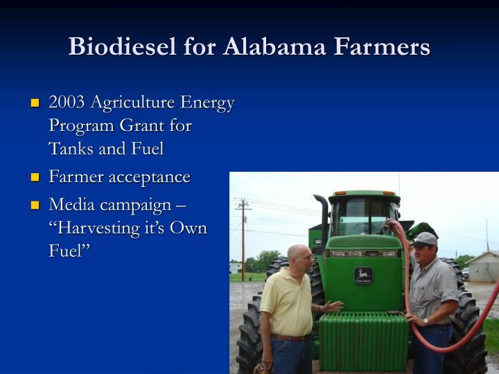 Biodiesel for alabama farmers