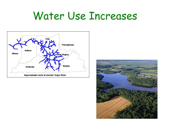 Water Use Increases