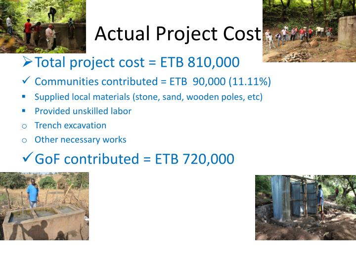 Actual Project Cost