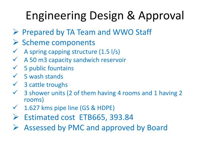 Engineering Design & Approval