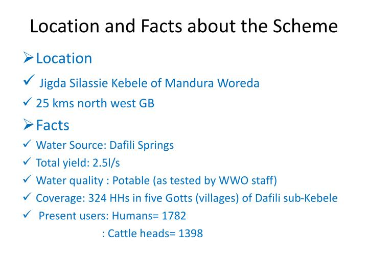 Location and Facts about the Scheme