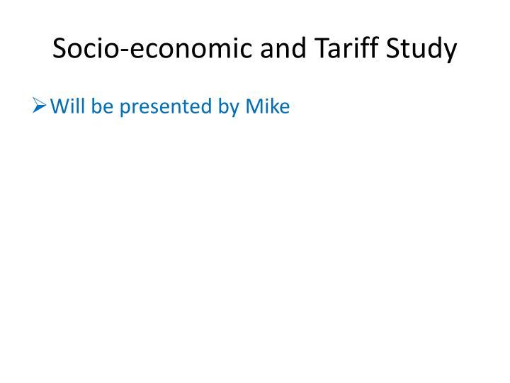 Socio-economic and Tariff Study