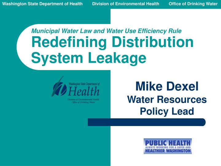 mike dexel water resources policy lead n.