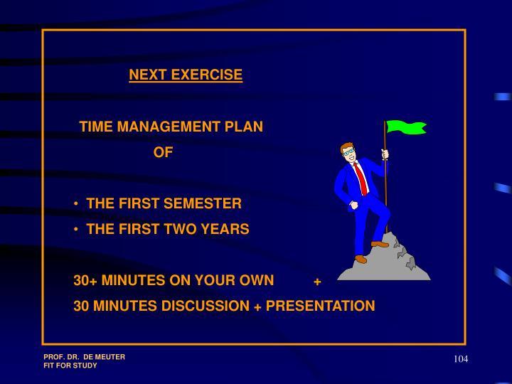 NEXT EXERCISE